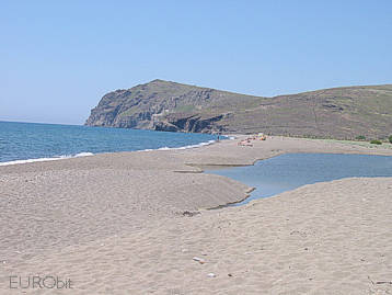 Eresos beach in West Lesvos