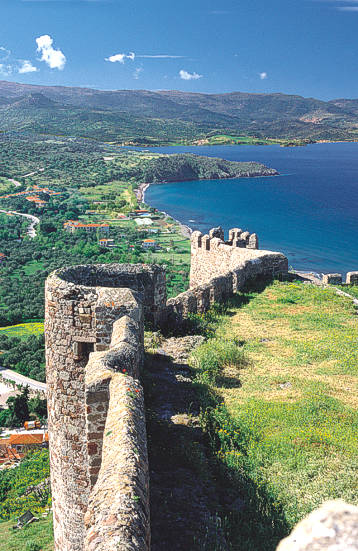 The Byzantine Castle of Mithymna (Molivos) at the Nortest tip of Lesvos island.