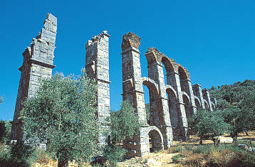 A section of the roman aquaduct in Moria - Lesvos